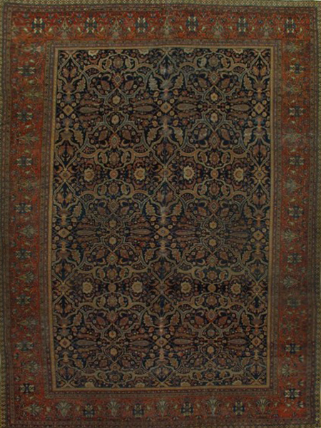 Sarouk Farahan Rug-100803 • Available Sizes: 10.4 x13.10