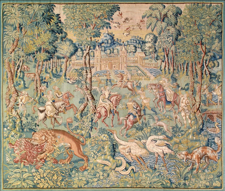 French Flemish Tapestry Image Carpets
